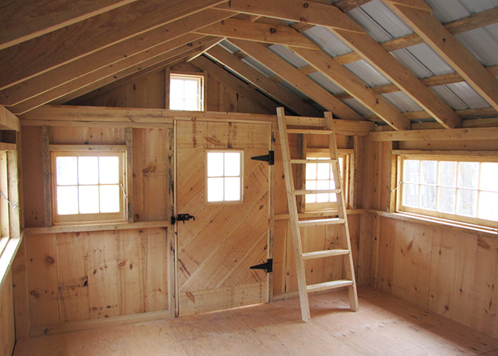 Bunk house for Shed designs with loft