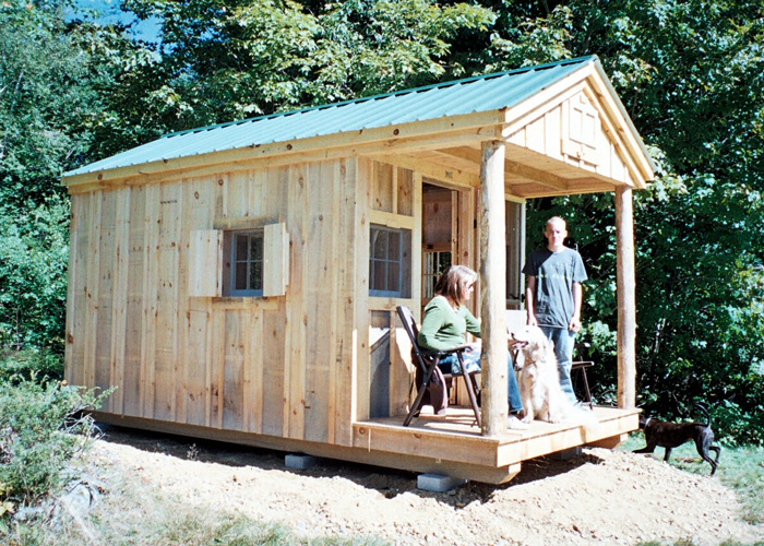 Built In Bunk Bed In Shed