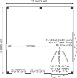10x10 Dollhouse Floorplan