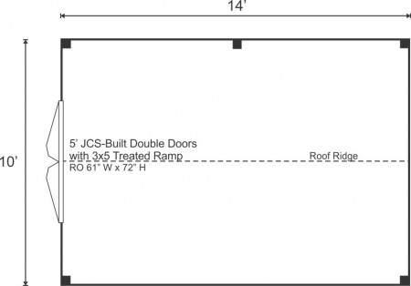 Option B - Doors on Gable End