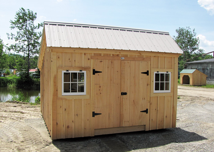Saltbox sheds small storage shed plans garden shed kit for Board and batten shed plans
