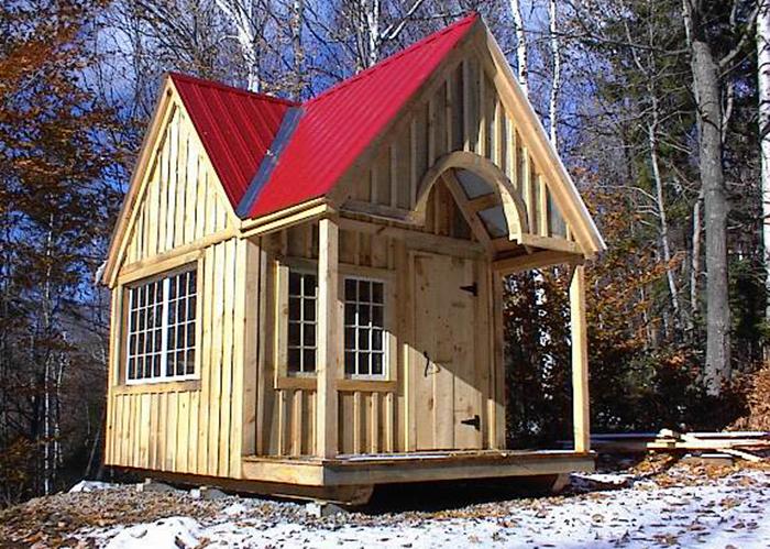 Small cottage floor plans cottage sheds prefabricated for Custom cottages for sale