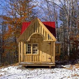 10x14 Cross Gable - custom built tiny house