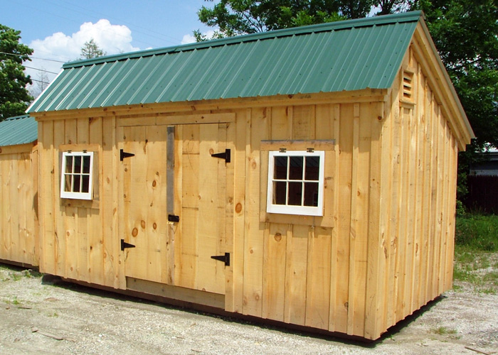 X Saltbox Simple Post Beam Backyard Storage Shed Diy Plans