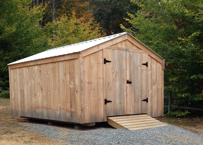 Wood storage shed kits post and beam shed kits for Pre built storage sheds