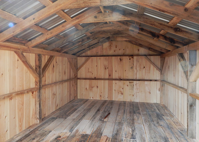 Wood storage shed kits post and beam shed kits for Post and beam shed plans