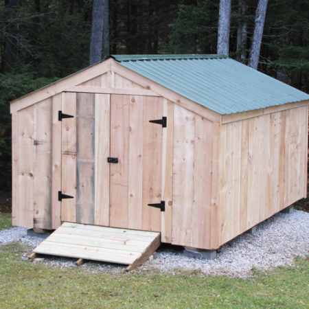 Wood storage shed kits post and beam shed kits for Storage shed kits