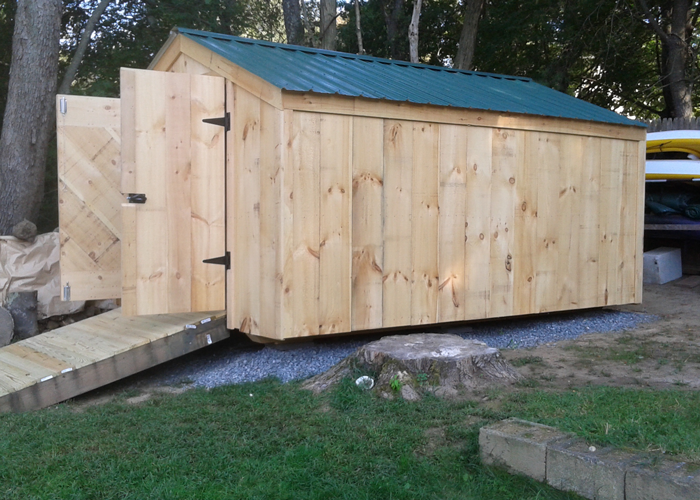 Wood storage shed kits post and beam shed kits for Maine post and beam kits