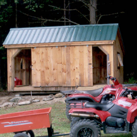 10x16 Three Sled Shed - custom exterior