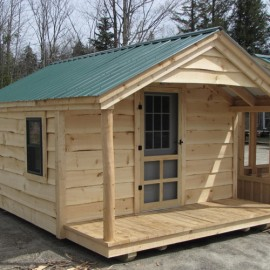 10x14 camping shelter now offered by jamaica cottage shop for Adirondack cabin plans