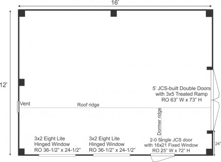 12x16 Dollhouse Floorplan