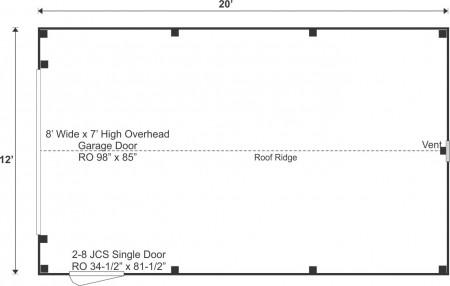 12x20 Garage Floor Plan