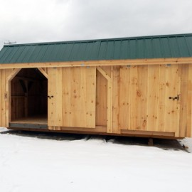 12x20 Three Sled Shed - Standard exterior