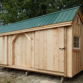10x16 Three Sled Shed - Customized Exterior