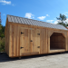 12x20-Weekender-Ash-Gray-Roof-post-beam-storage-shed-kit-for-sale