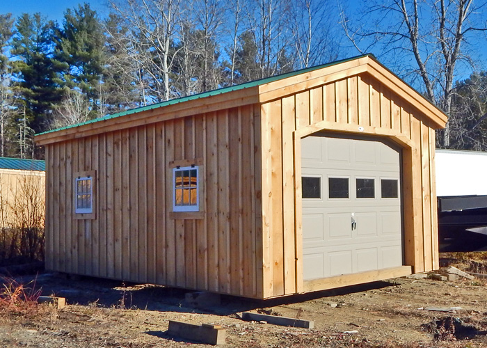 12x20 shed kit garage shed kits garage kits for sale for Storage shed overhead door