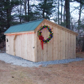 12x20 Three Sled Shed - Exterior
