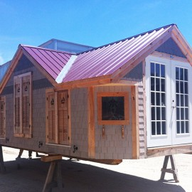 12x24 Cross Gable - custom built exterior of a tiny house