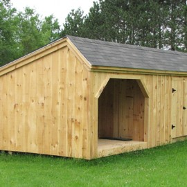 12x24 Weekender with board and batten siding.