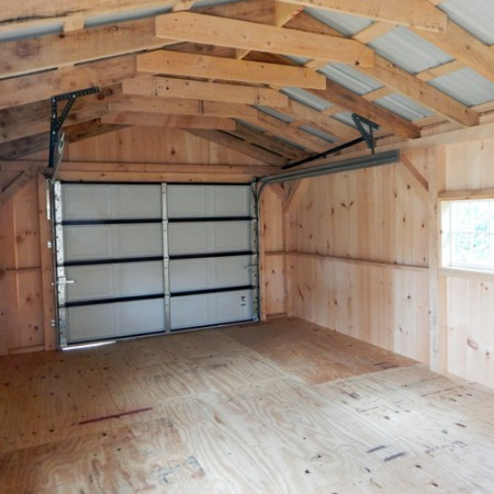 14x20 barn garage custom interior for 12 foot garage door rough opening