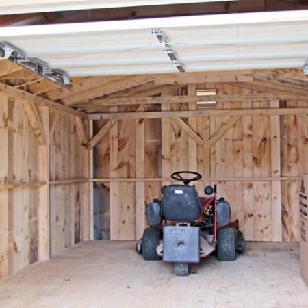 14x20 barn garage interior for 12 x 14 garage door
