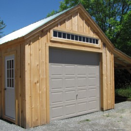 14x20 One Bay Garage Exterior