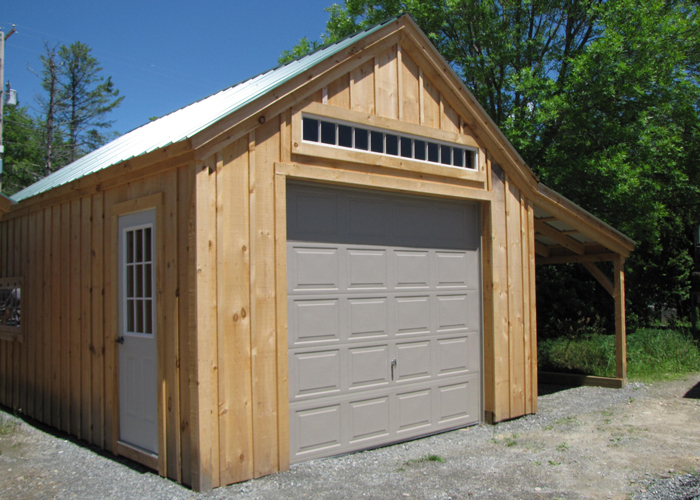 One bay garage for Storage shed overhead door