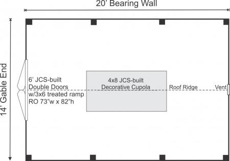 14x20 Sugar Shack Floor Plan
