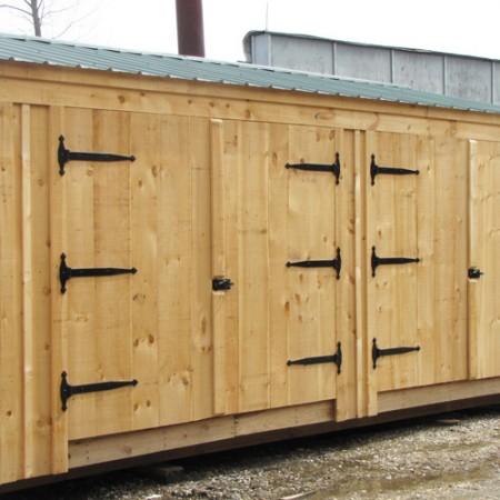 14x20 barn garage custom exterior for 14 x 8 garage door