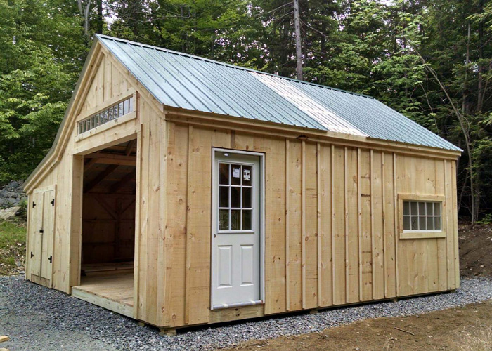 how to build shed double doors with window