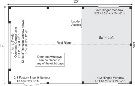 14x20-one-bay-garage-floor-plan