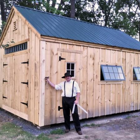 One bay garage jamaica cottage shop for 20 x 25 garage kits