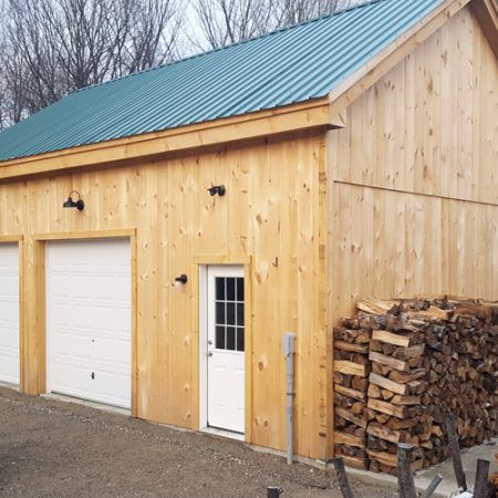 20x30 Timber Frame Garage - Built from the kit
