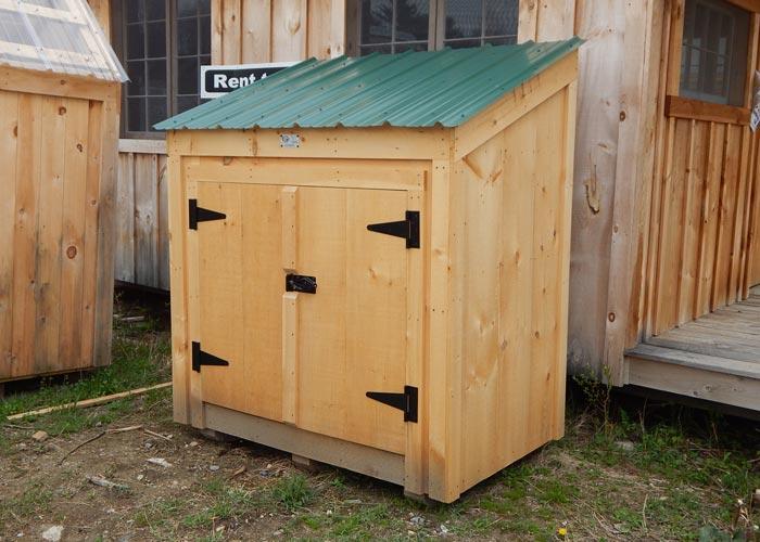 Garbage Bin Storage Wooden Garbage Bin Jamaica Cottage