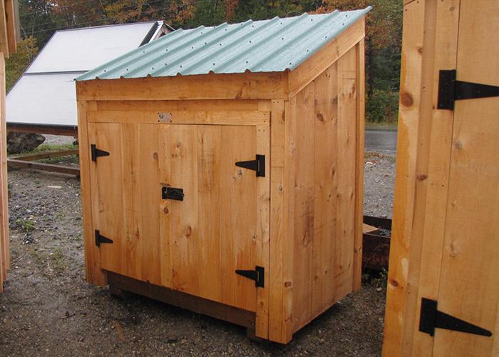 Garbage bin storage wooden garbage bin jamaica cottage for Outdoor storage units for sale