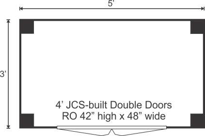 3x5 Garbage Bin - floor plan