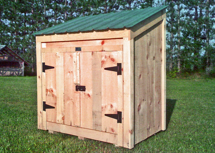 Garbage bin storage wooden garbage bin jamaica cottage for Small shed kits