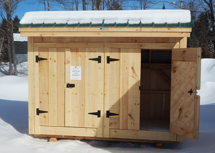 ... 4x10 Garbage Shed   Outdoor Trash Container ...