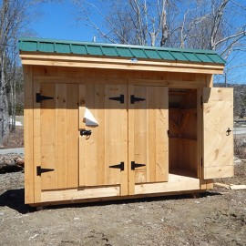 4x10 Garbage Shed - Exterior