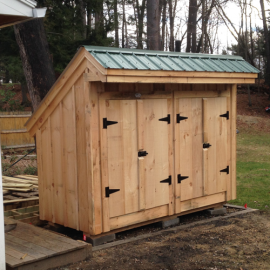 4x10 Garbage Shed - garbage storage designs