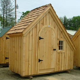 4x10 Hardware Shed - Custom exterior