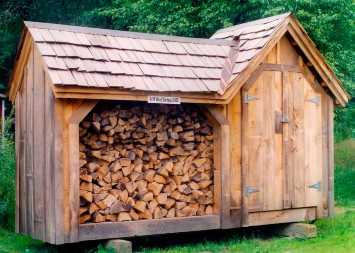 Firewood Storage Shed Garbage Can Storage Shed