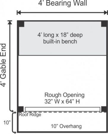 4x4 Bus Stop - Floor Plan