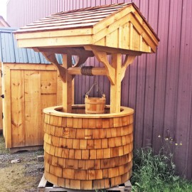4x4 Wishing Well - Built with cedar shakes