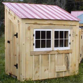 4x6 Chicken Coop - Autumn Red Metal Roof