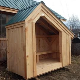 4x8 Hearthstone - custom built wood bin