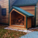 4x8 Hearthstone - easy to build wood shed kit