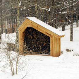 4x8 Hearthstone - wood shed for vacation cottages