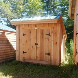 4x8 Saltbox - standard exterior