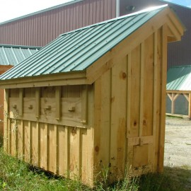 4x8 Saltbox - custom exterior with installed nesting boxes